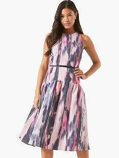 little-mistress-printed-midi-dress-with-belt