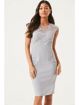 little-mistress-lace-detailed-bodycon-dress-grey
