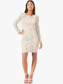 little-mistress-long-sleeve-crochet-mini-with-nude-lining
