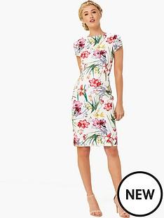 paper-dolls-floral-printed-cap-sleeve-dress