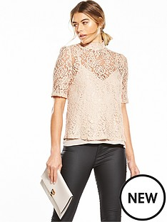 fashion-union-high-neck-lace-top-pink
