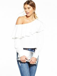 fashion-union-one-shoulder-ruffle-top