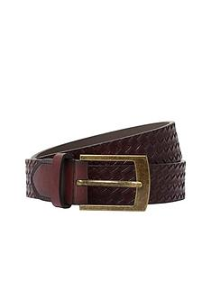 river-island-brown-emboss-weave-belt