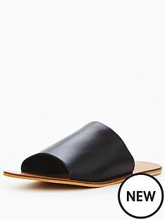 warehouse-warehouse-leather-slider-sandal
