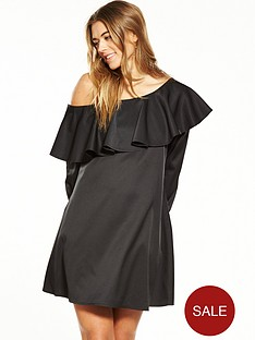 fashion-union-one-shoulder-dress-ndash-black