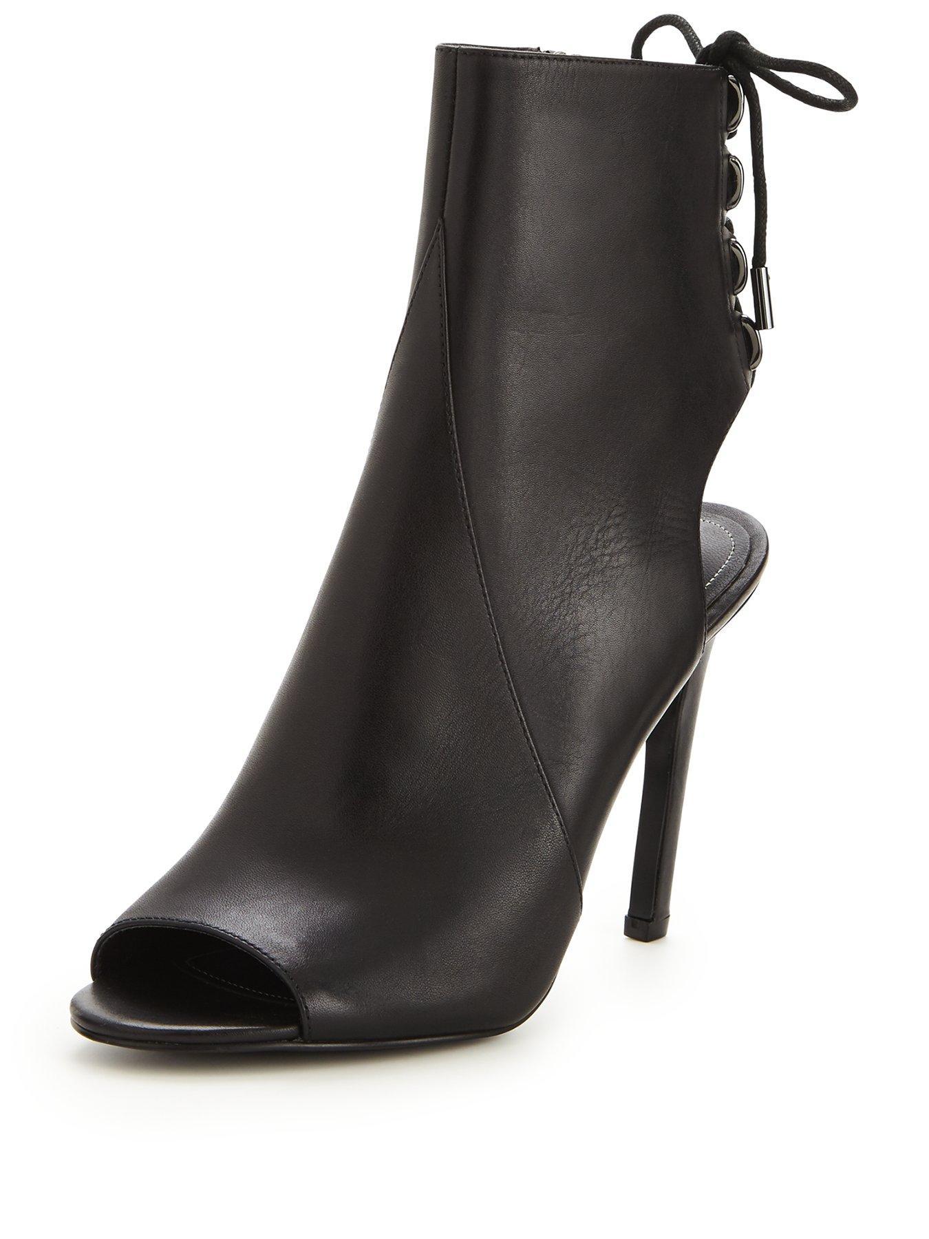 Discount Kendall & Kylie Medow Stiletto Black Shoe Boots for Women Online Sale