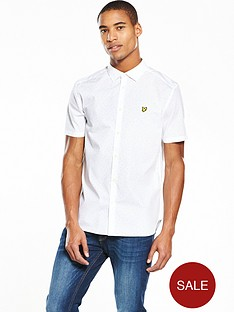 lyle-scott-lyle-amp-scott-mini-square-dot-ss-shirt