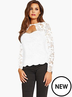jessica-wright-lace-sleeve-top