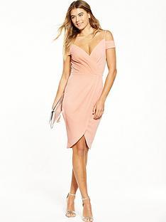 ax-paris-cold-shoulder-wrap-dress-blush