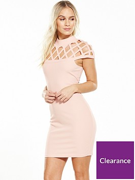 ax-paris-petite-cage-bodycon-dress-pink