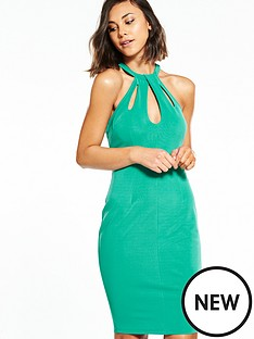 rare-neck-detail-cut-out-midi-dress