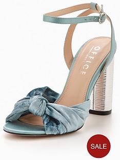 office-natural-knot-heeled-sandal-aqua