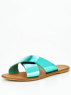 office-sorted-with-criss-cross-flat-sandal-blue