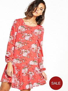glamorous-drop-hem-printed-dress
