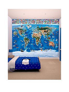 Walltastic Map Of The World Wallpaper Mural