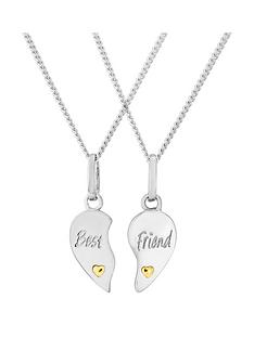 keepsafe-sterling-silver-best-friend-childrens-heart-split-pendant