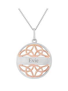 keepsafe-keepsafe-sterling-silver-and-rose-rhodium-personalised-celtic-pendant