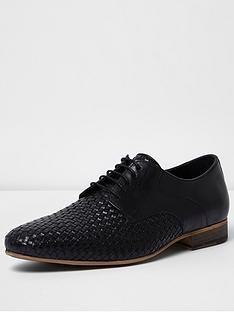 river-island-mens-leather-woven-shoe