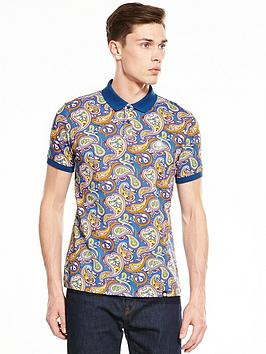 Pretty Green Pretty Green Pretty Green Ranson Aop Paisley Short Sleeved  ... Picture