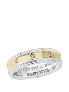 keepsafe-keepsafe-ladies-sterling-silver-yellow-gold-plated-diamond-set-message-ring