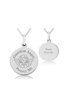 keepsafe-keepsafe-sterling-silver-personalised-disc-pendant