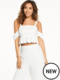 myleene-klass-bow-tie-ruffle-crop-top