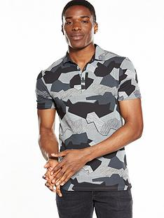 river-island-muscle-fit-camo-polo