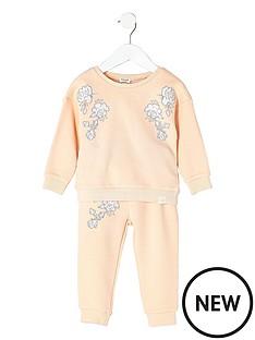 river-island-mini-mini-girls-embriodered-sweatshirt-and-joggers-set