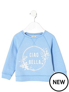 river-island-mini-mini-girls-blue-039ciao-bella039-sweatshirt