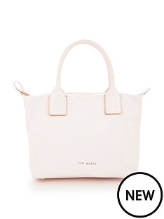 ted-baker-small-exotic-handle-nylon-tote