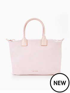 ted-baker-large-exotic-handle-nylon-tote
