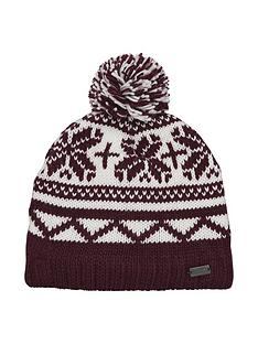 regatta-sleet-bobble-hat-rednbsp