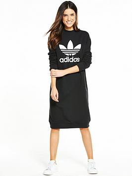Adidas Originals Trefoil Crew Dress  Black
