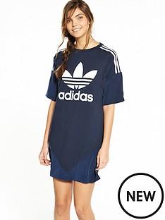 adidas-originals-high-neck-chiffon-dress-navynbsp