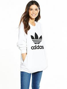adidas-originals-oversize-trefoil-sweat-whitenbsp