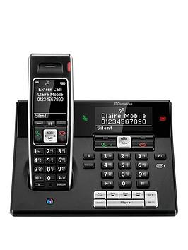 Bt Bt Diverse 7460 Plus Single Dect Phone With Answer Machine  Black