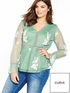 v-by-very-curve-embroidered-blouse