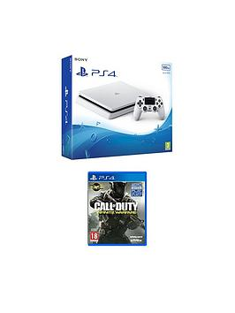 Playstation 4 Slim 500Gb White Console With Call Of Duty Infinite Warfare Plus Optional 12 Months Psn AndOr Extra Controller  500Gb White Slim Console With Call Of Duty Infinite Warfare 365 Psn S