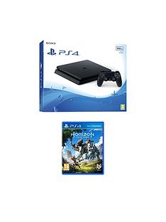 playstation-4-slim-500gb-black-console-with-horizon-zero-dawnnbspplus-optional-extra-controller-andor-12-months-playstation-network