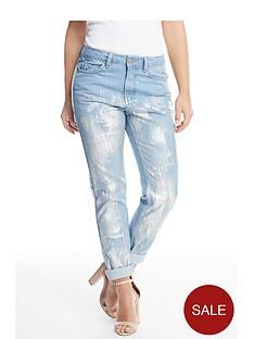 v-by-very-petite-foil-print-boyfriend-jeans