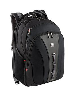 Wenger Wenger Legacy 16 Inch Laptop 24 Litre Backpack Airport Friendly With Case Stabalising Platform Black