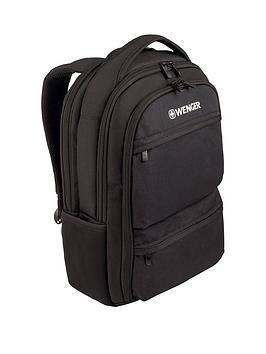 Wenger Wenger Fuse 16 Inch Laptop 20 Litre Backpack Padded Laptop Compartment With IpadTablet Ereader Pocket Black