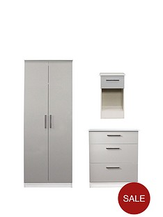 swift-montreal-gloss-3-piece-ready-assembled-package-ndash-2-door-wardrobe-3-drawer-chest-and-bedside-table