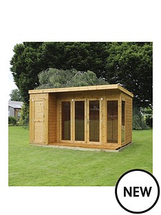 mercia-12-x-8ft-premium-garden-room-summerhouse-with-side-shed
