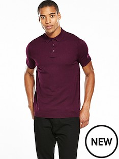 river-island-short-sleeve-knitted-slim-fit-polo
