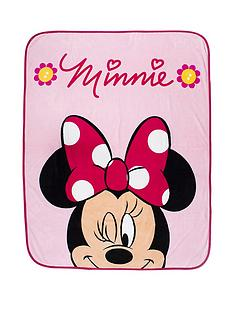 minnie-mouse-flowers-fleece-blanket