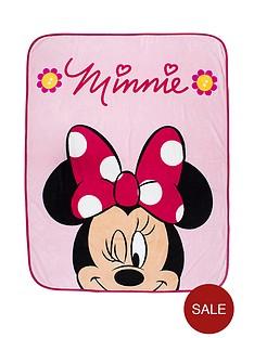minnie-mouse-flowers-fleece-blanket