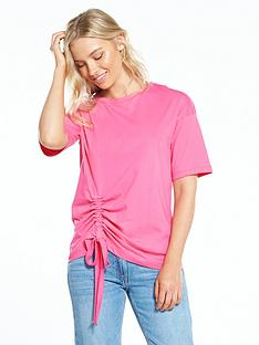 warehouse-ruched-side-tee