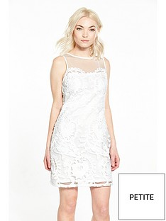 miss-selfridge-petite-mesh-yoke-lace-dress-white