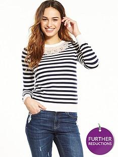 oasis-oasis-embellished-neck-stripe-knit-jumper